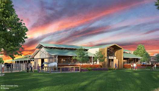 PHOTO - Concept art of new Tri-Circle-D Ranch at Disney's Fort Wilderness Resort