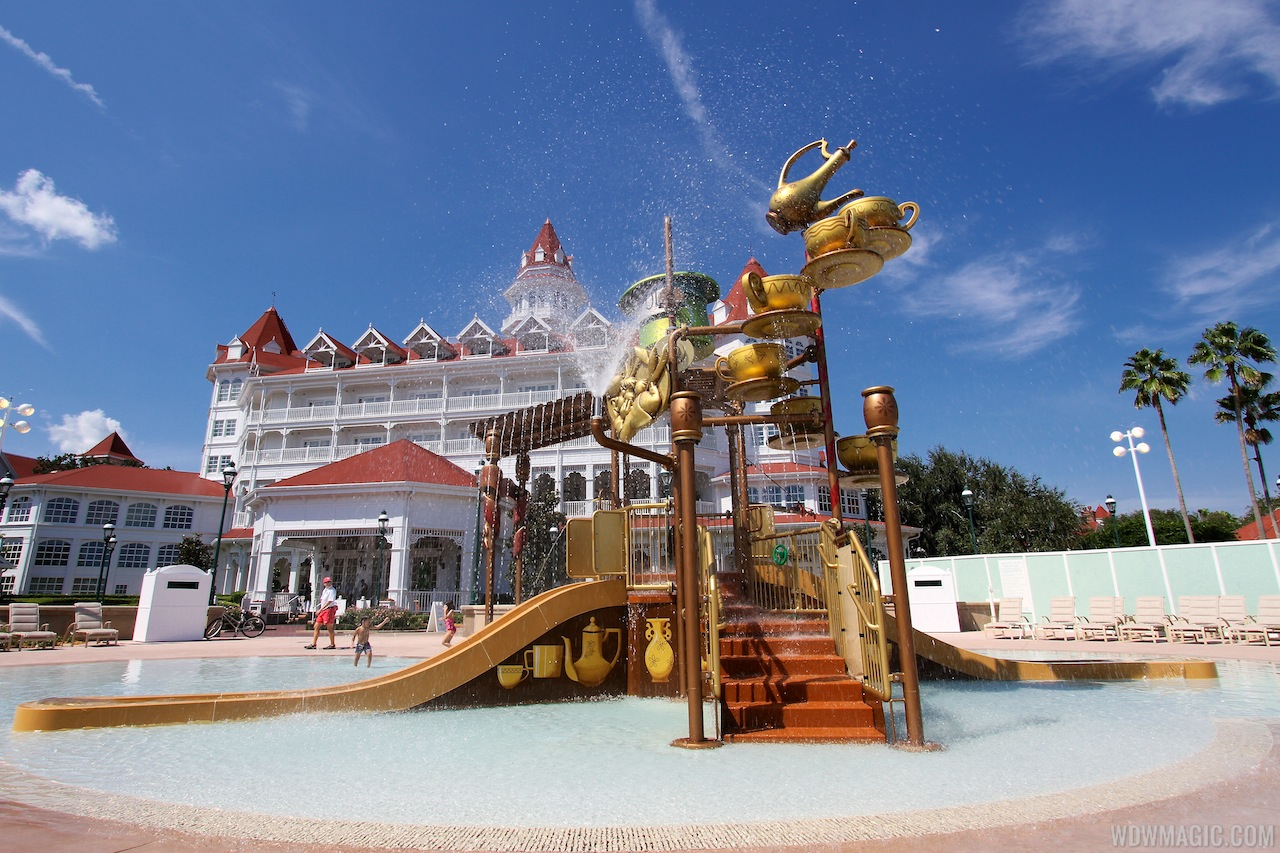 Disney's Grand Floridian Resort kids splash playground