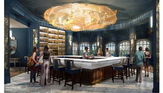 PHOTOS - Beauty and the Beast inspired lounge to replace Mizner's at Disneys Grand Floridan Resort