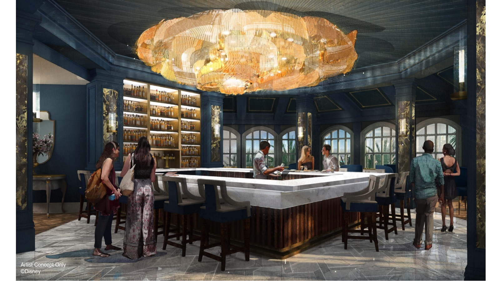 Beauty and the Beast - inspired lounge concept art