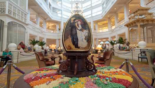 PHOTOS - 2019 Easter Egg display at Disney's Grand Floridian Resort