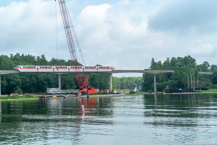 Grand Floridian to Magic Kingdom bridge construction - August 2019