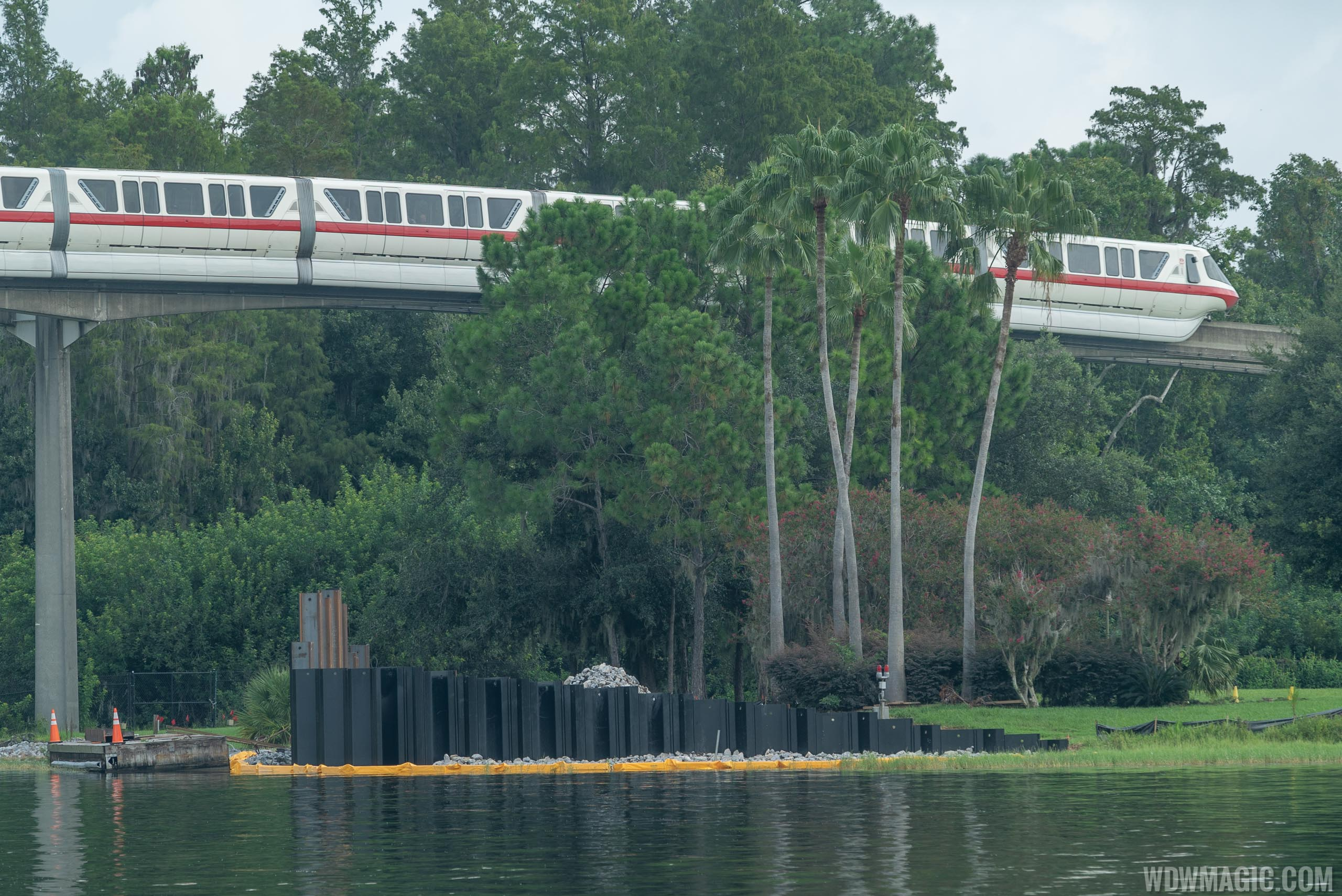 Grand Floridian to Magic Kingdom bridge construction - August 2019