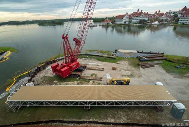 Grand Floridian to Magic Kingdom bridge construction - October 2019
