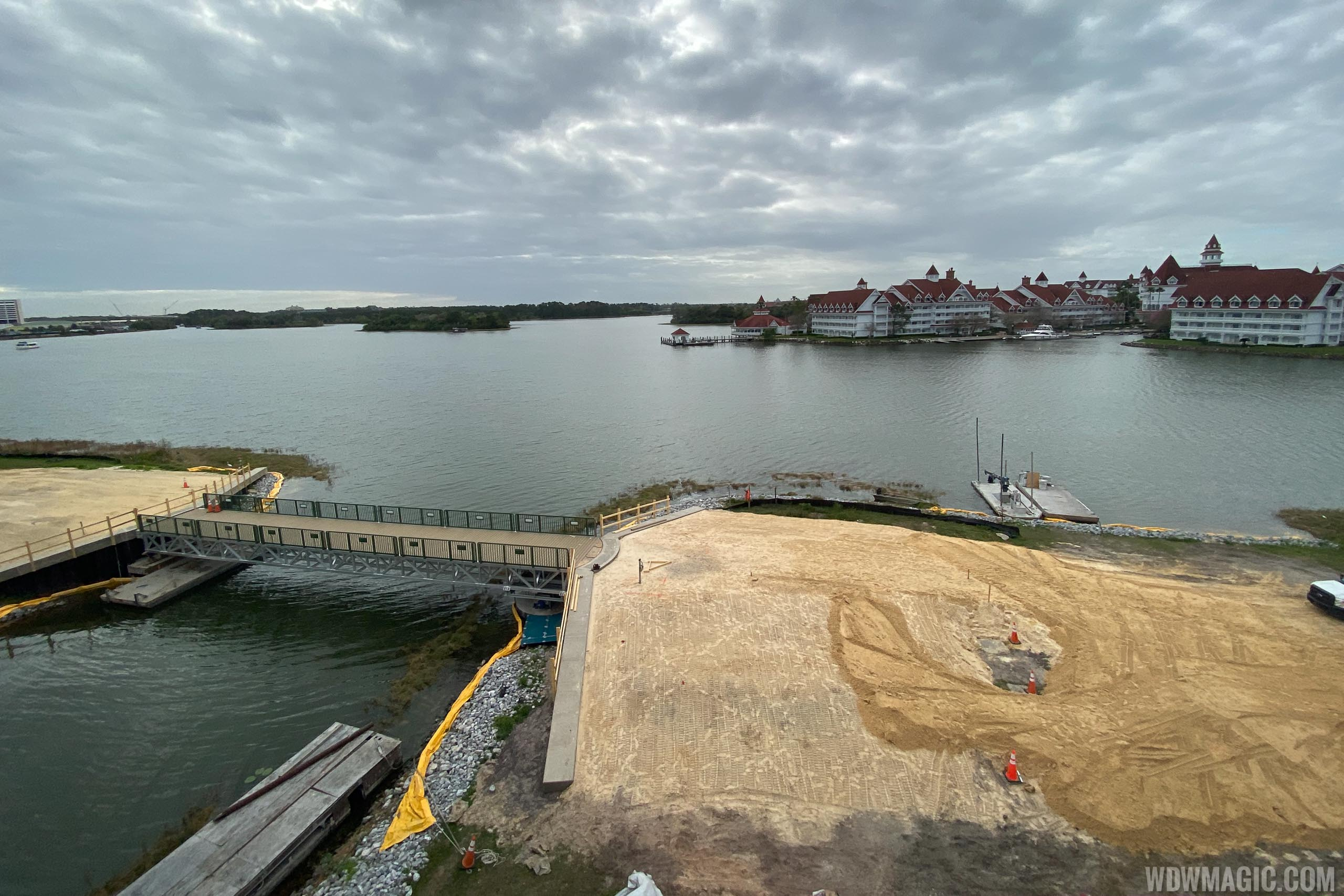 Grand Floridian to Magic Kingdom bridge construction - March 9 2020