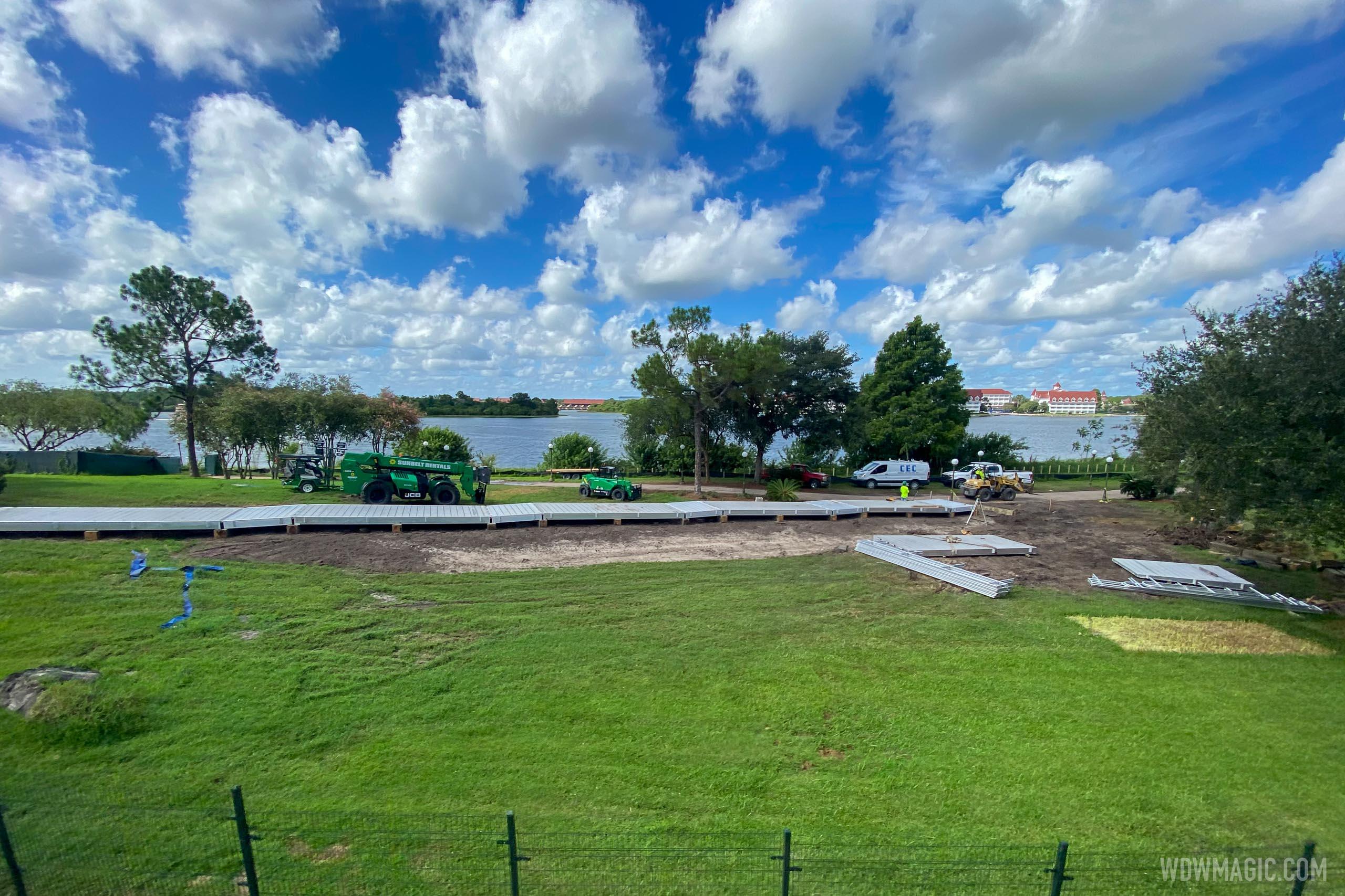Grand Floridian to Magic Kingdom bridge construction - July 21 2020
