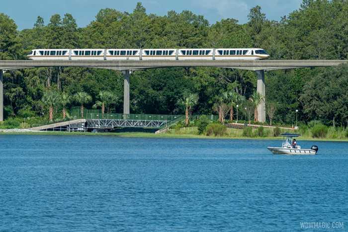 Grand Floridian to Magic Kingdom bridge construction - September 3 2020