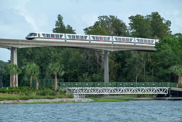Grand Floridian to Magic Kingdom bridge construction - September 21 2020
