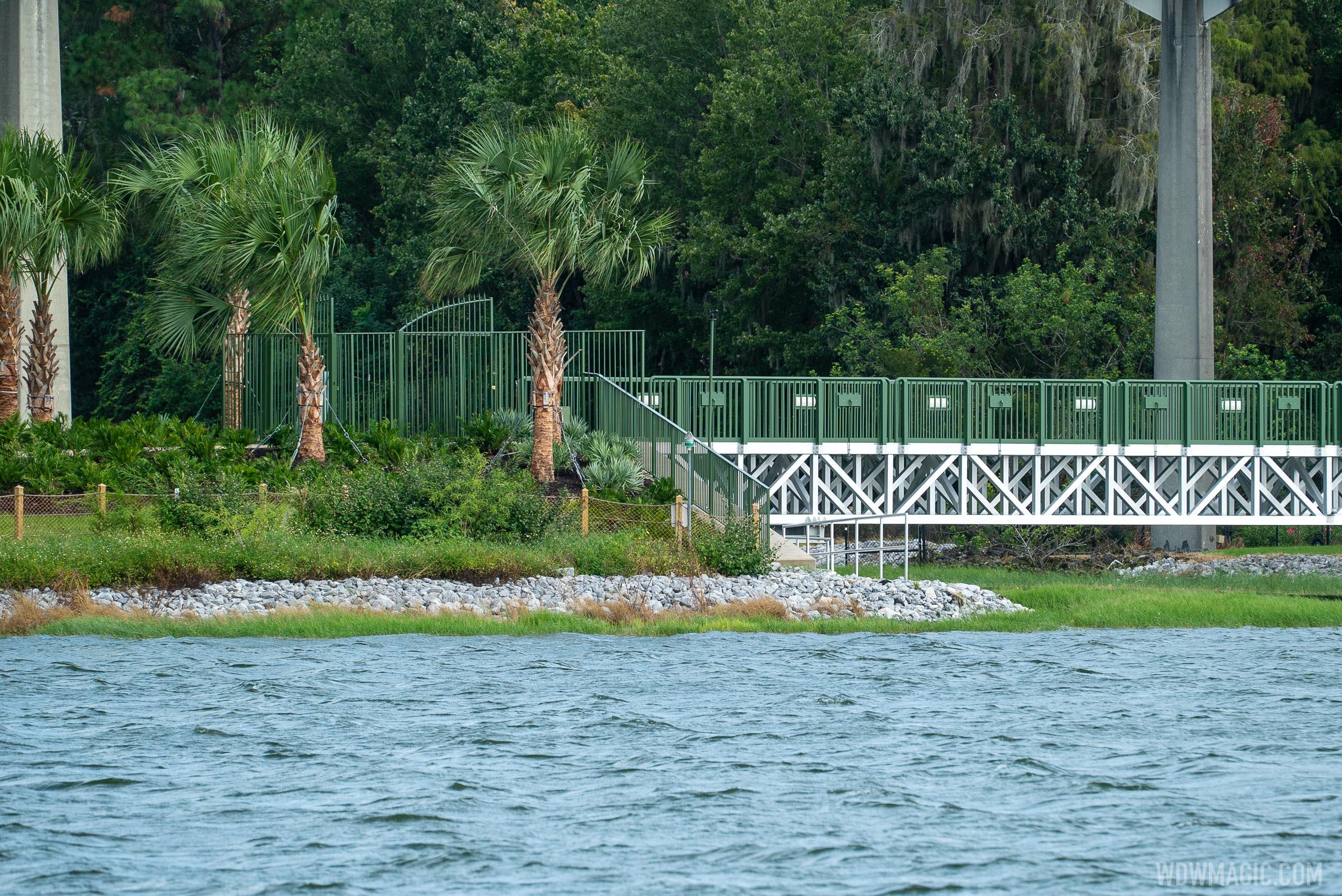 Grand Floridian to Magic Kingdom bridge construction - September 21 2020