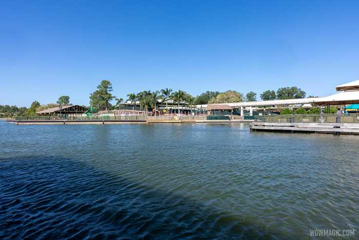 Grand Floridian to Magic Kingdom bridge construction - November 2 2020