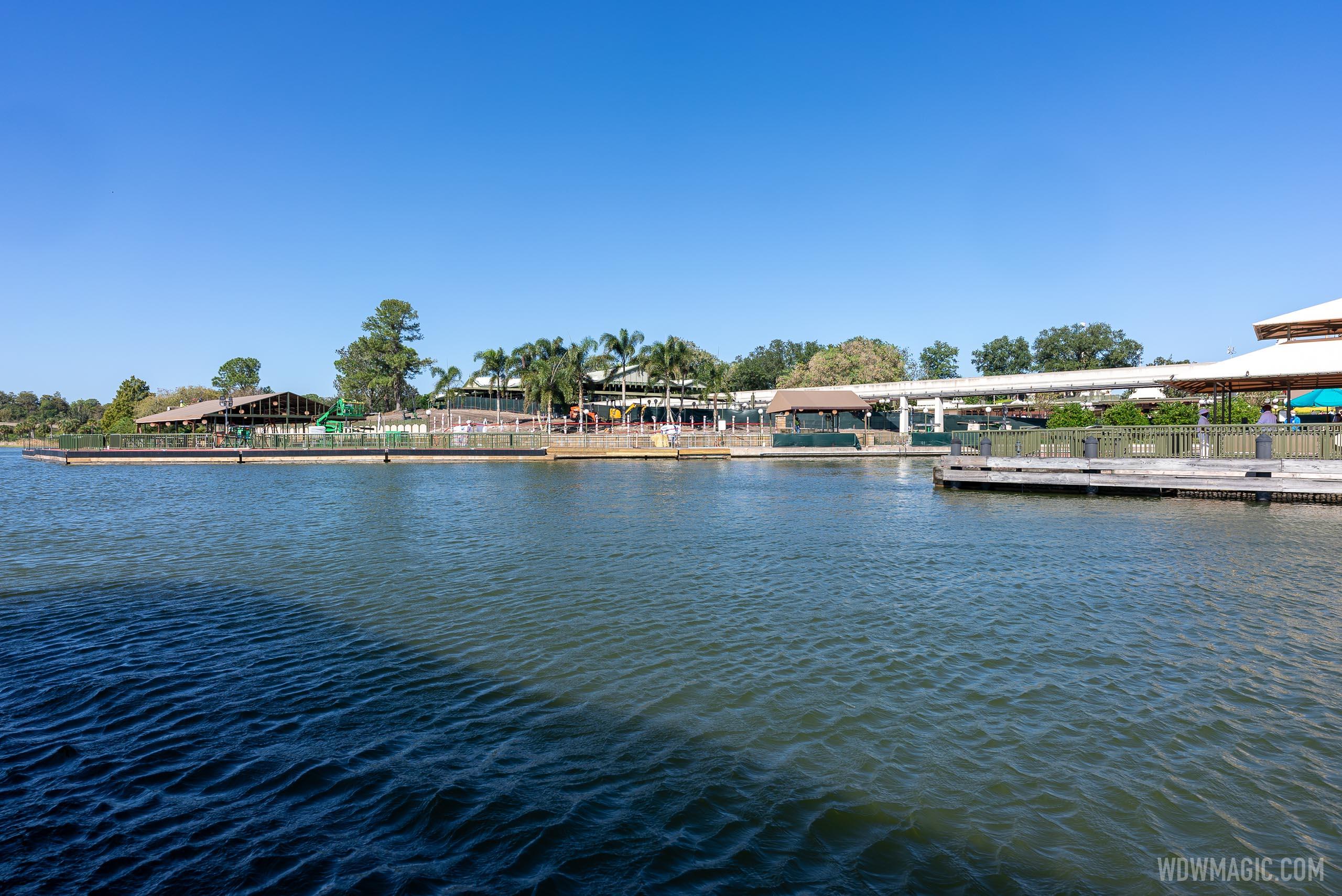 Grand Floridian to Magic Kingdom bridge construction - November 2 2020
