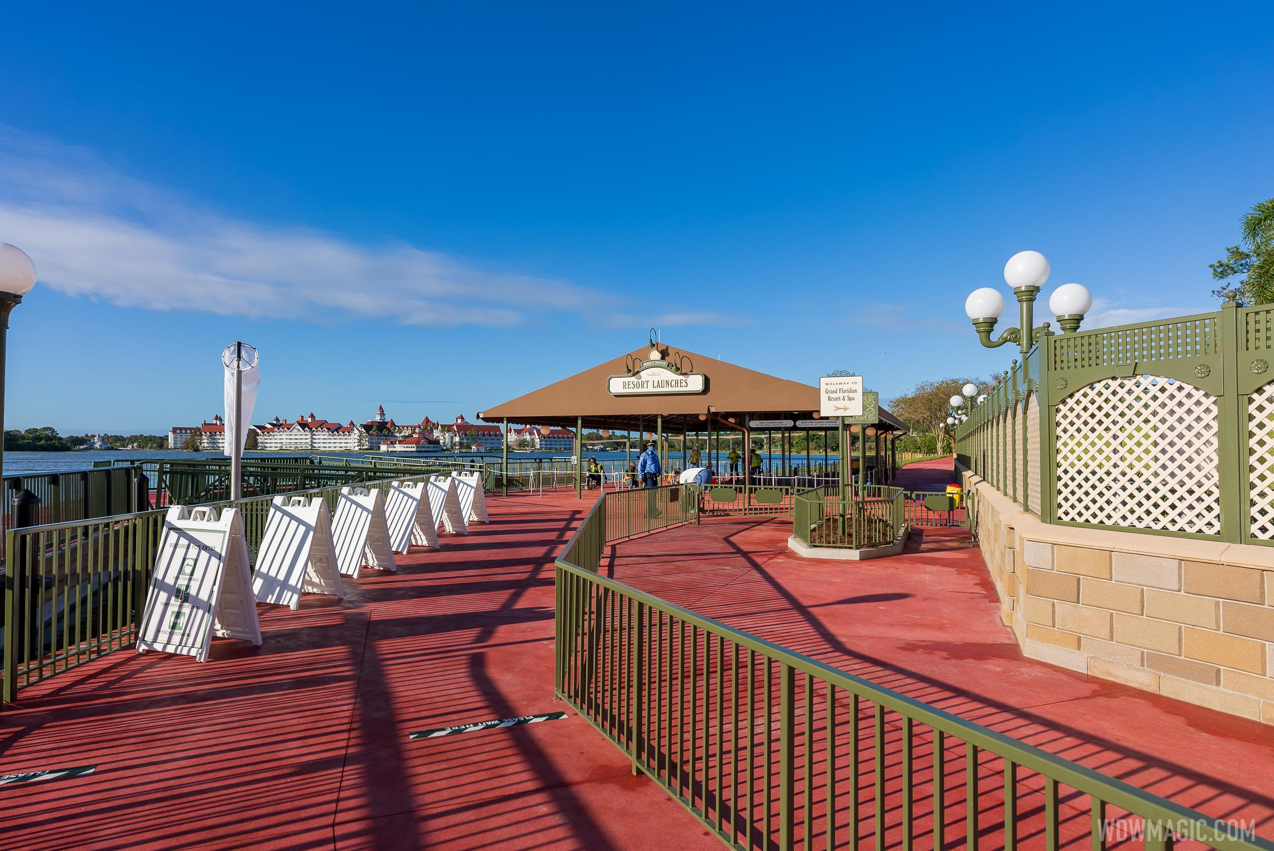 Walkthrough of completed Grand Floridan Resort walkway to Magic Kingdom