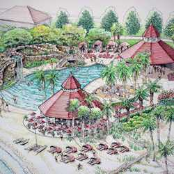 Grand Floridian pool concept art