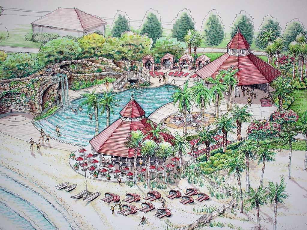 Grand Floridian pool concept art