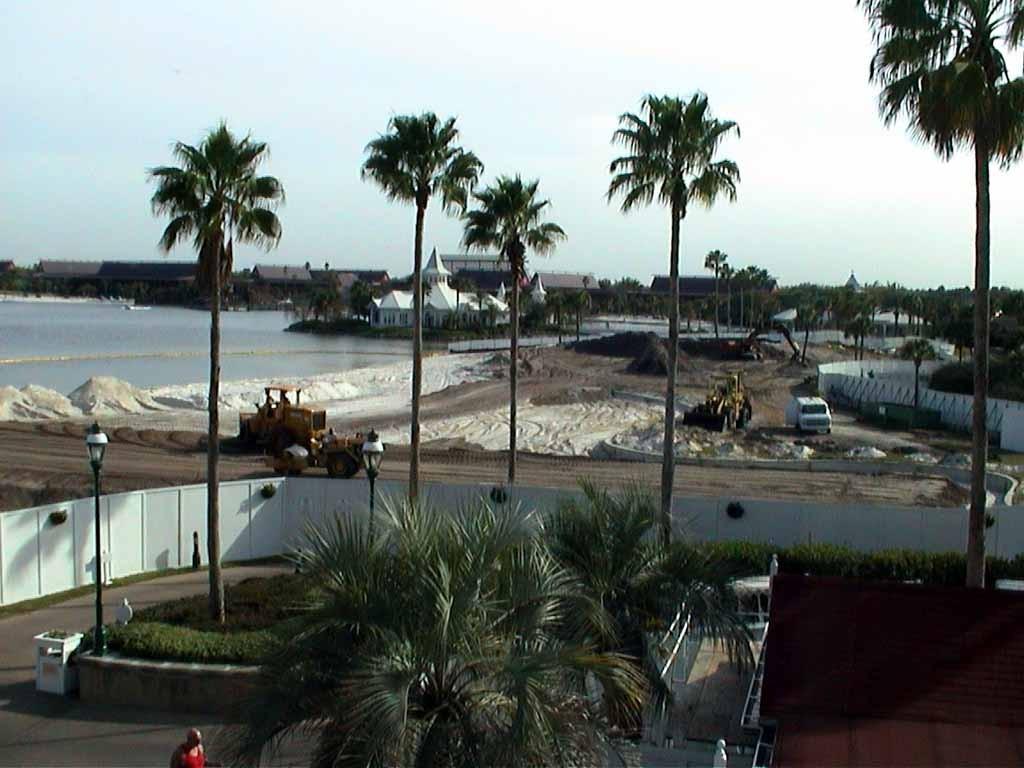 Grand Floridian pool construction photos