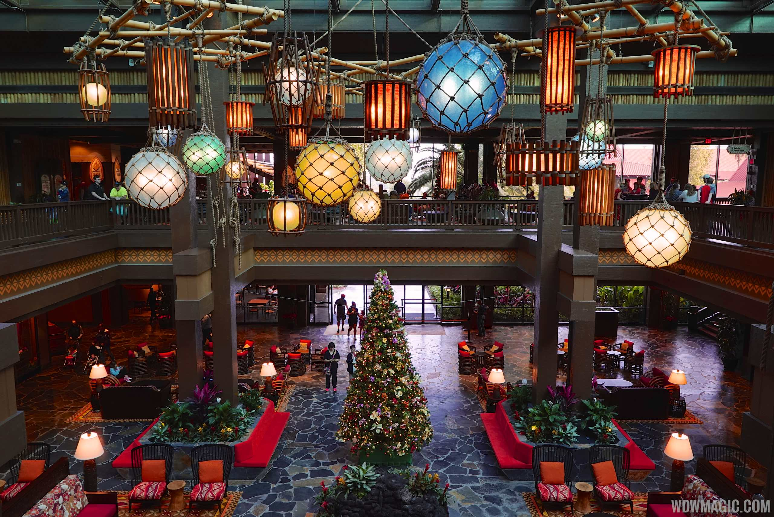 New Polynesian lobby from the second floor