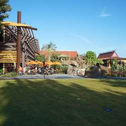 New Polynesian Village Resort Lava Pool area