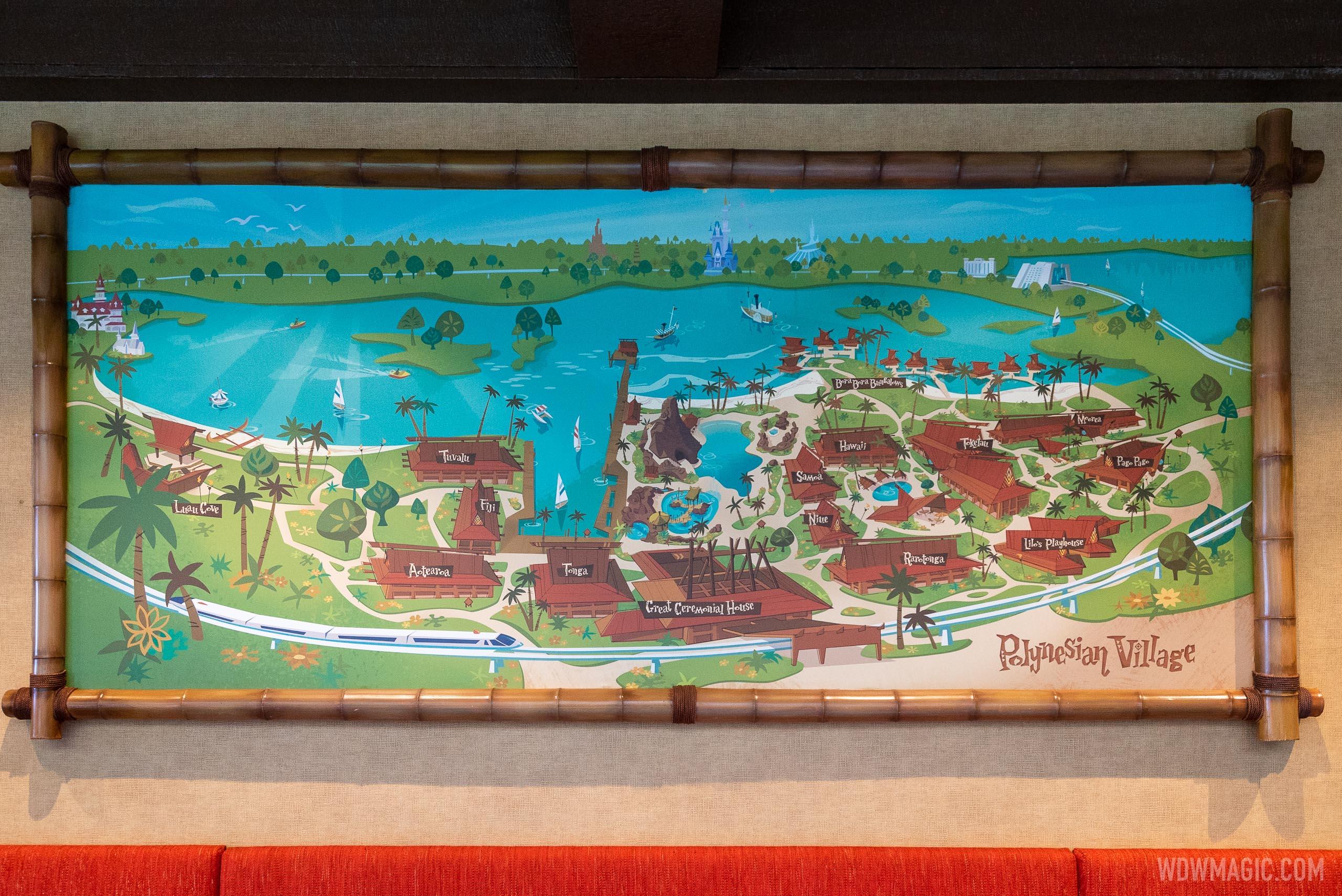 Map of buildings at Disney's Polynesian Resort