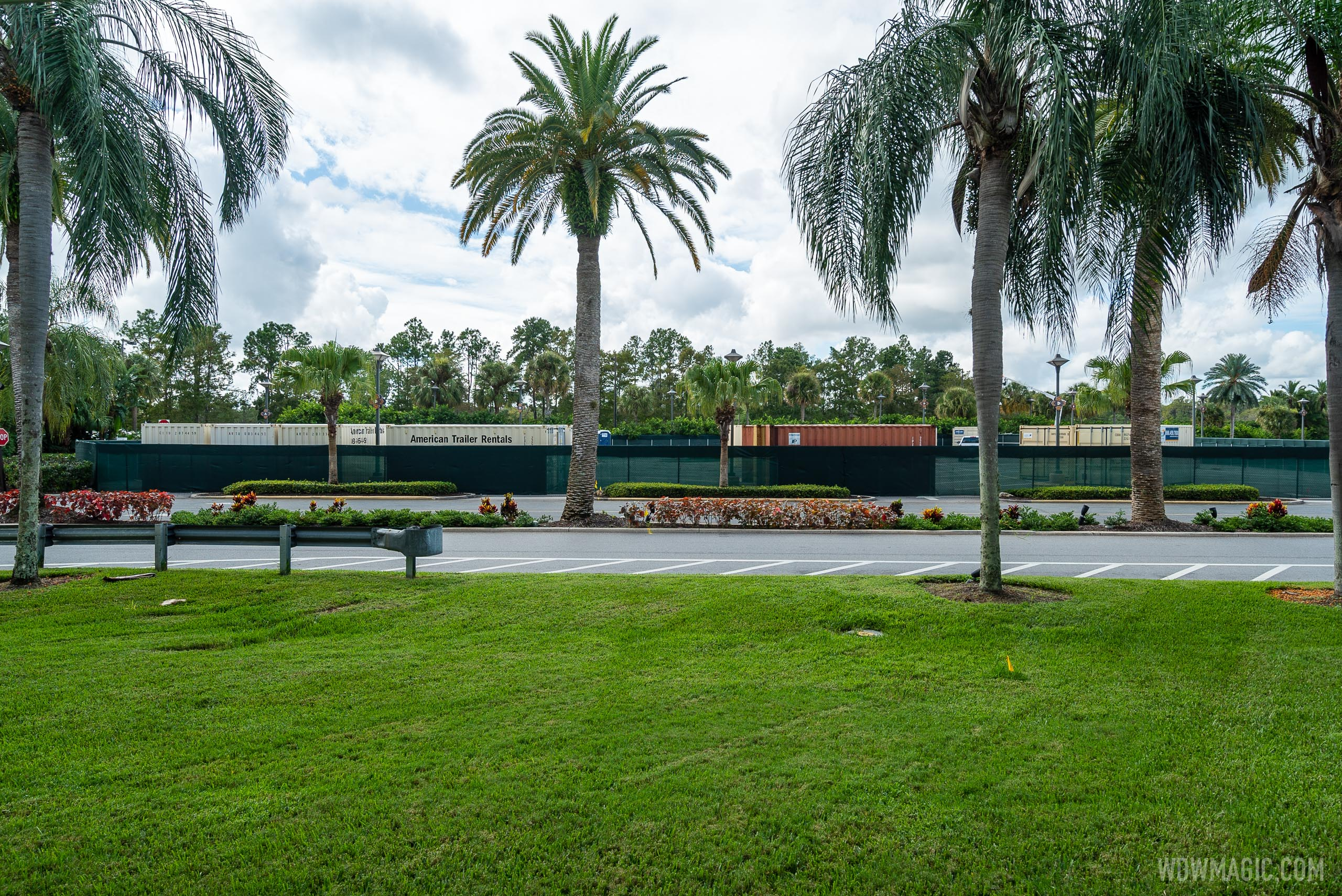 Refurbishment containers at Disney's Polynesian Resort
