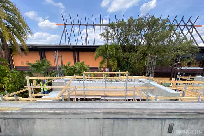 Polynesian Village Resort monorail station construction - March 22 2021