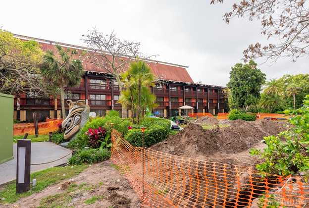 Polynesian Village Resort construction - March 29 2021