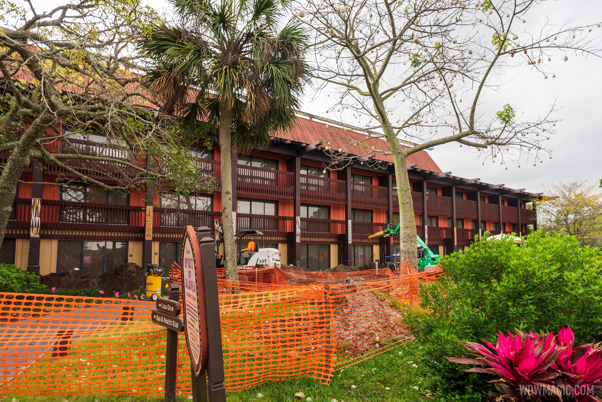Polynesian Village Resort construction - March 29 2021