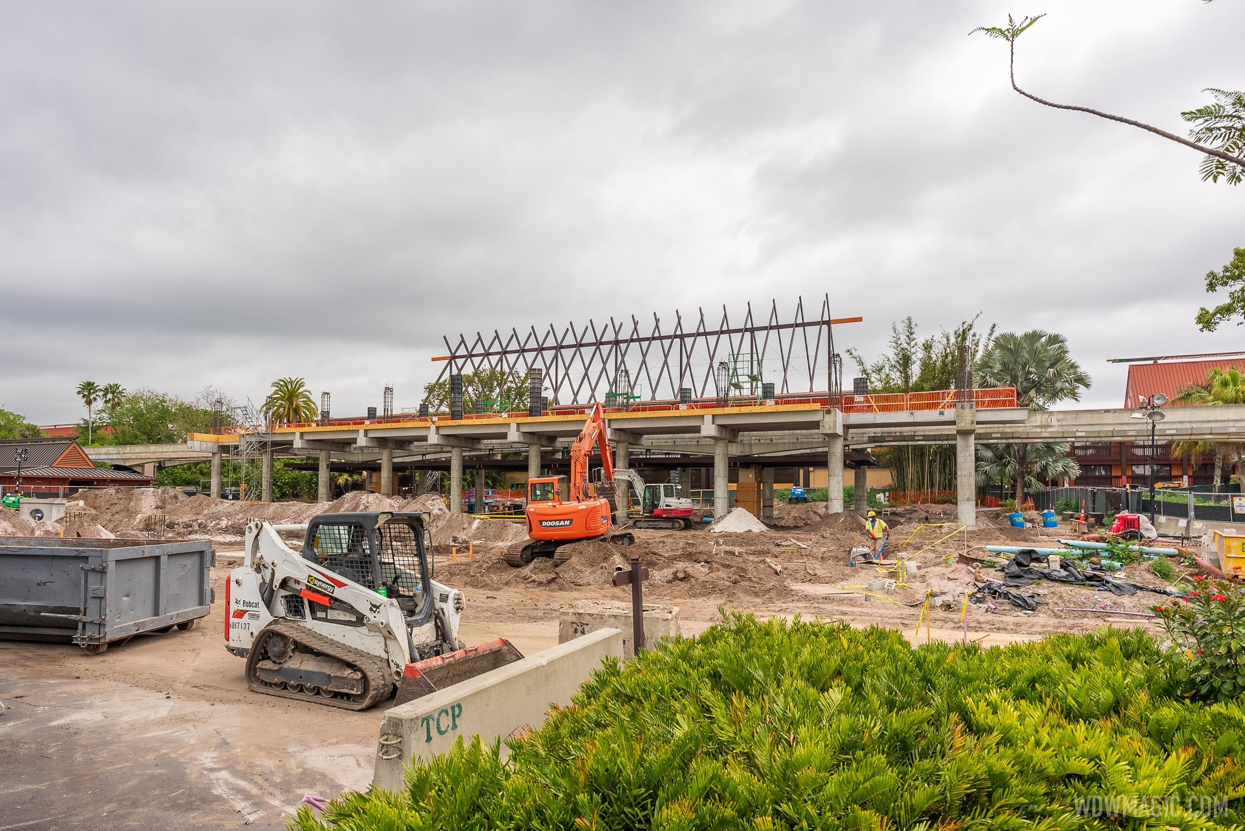 Construction update from Disney's Polynesian Village Resort
