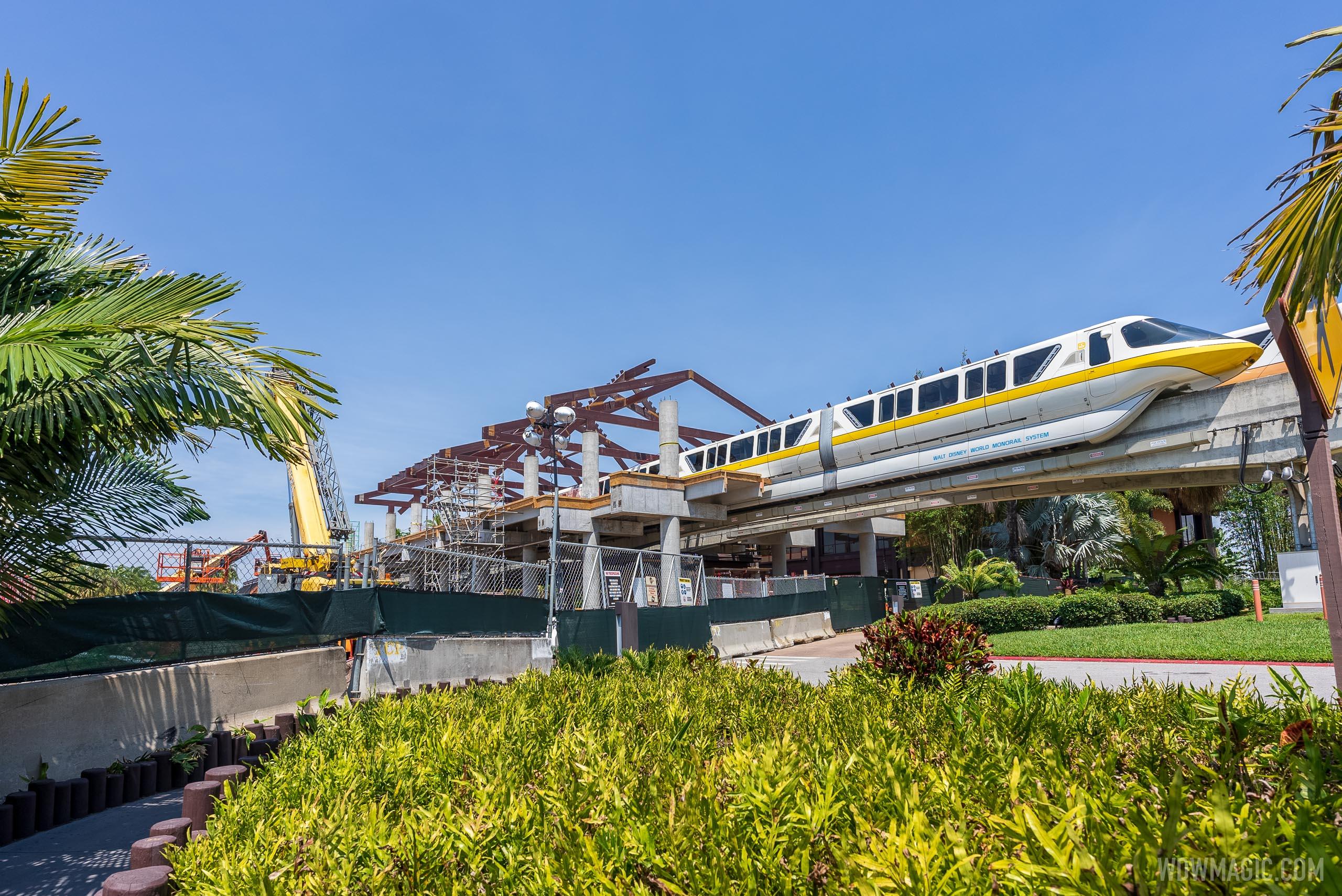 New Monorail station taking shape at Disney's Polynesian Village Resort