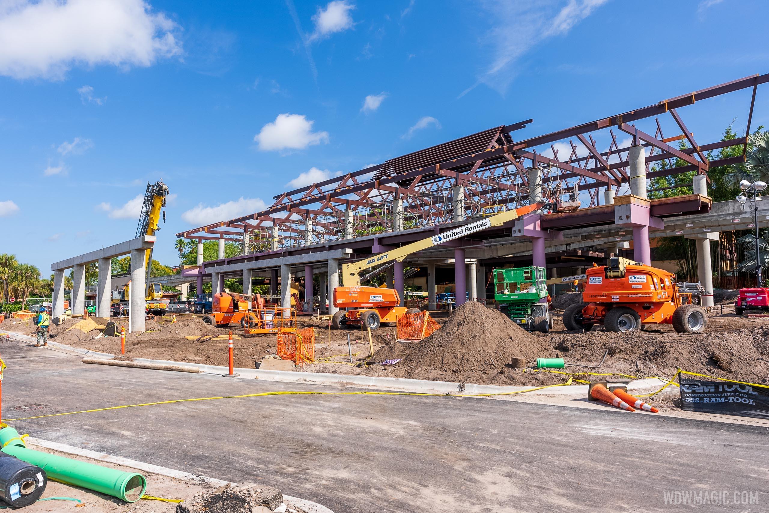 Polynesian Village Resort construction - May 4 2021
