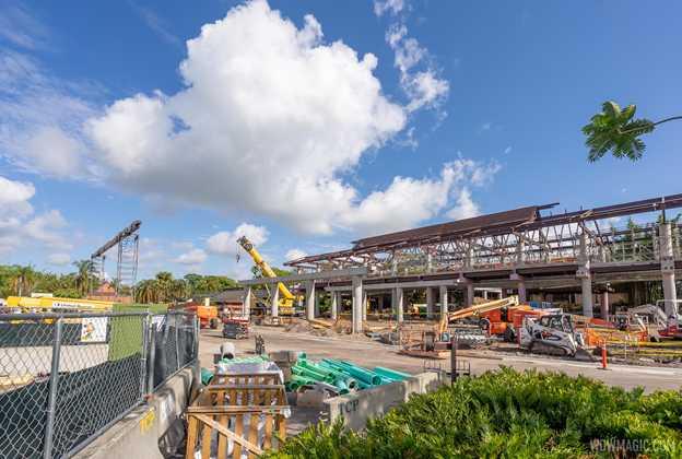 Polynesian Village Resort construction - May 10 2021