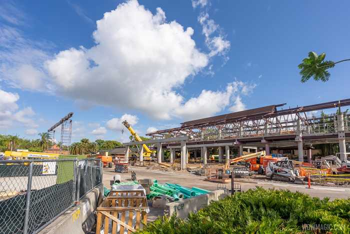 Polynesian Village Resort construction - May 10 2021