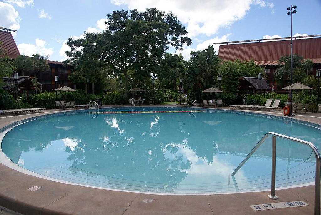 Polynesian Resort quiet pool