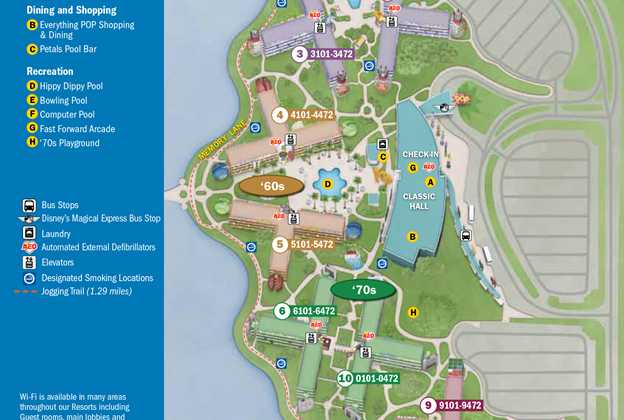 2013 Pop Century Resort guide map