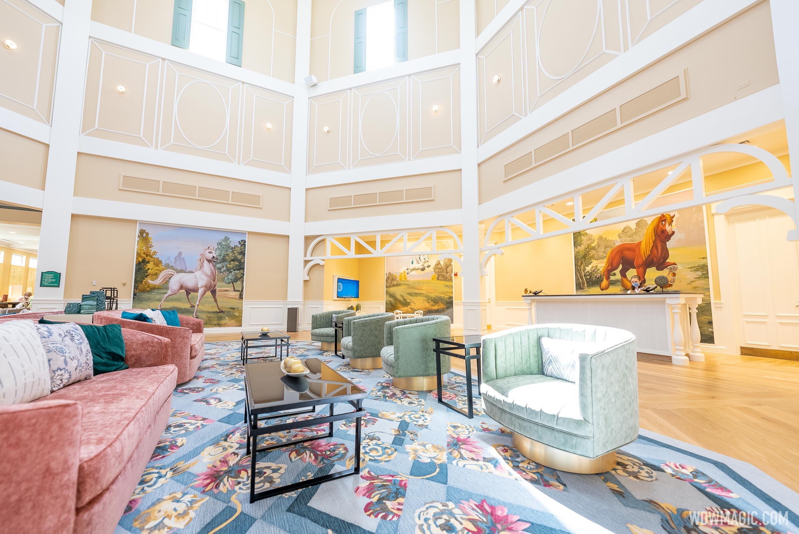 A look inside the all-new lobby at Disney's Saratoga Springs Resort