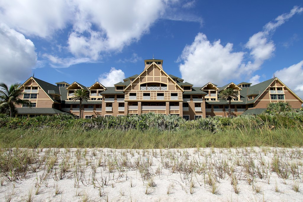 Disney's Vero Beach Resort Inn viewed from the beach