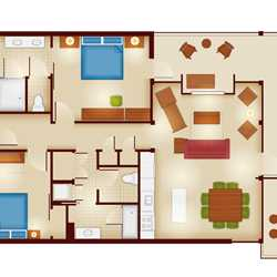 PHOTOS - Rooms and floor plans at Copper Creek Villas and Cabins at ...