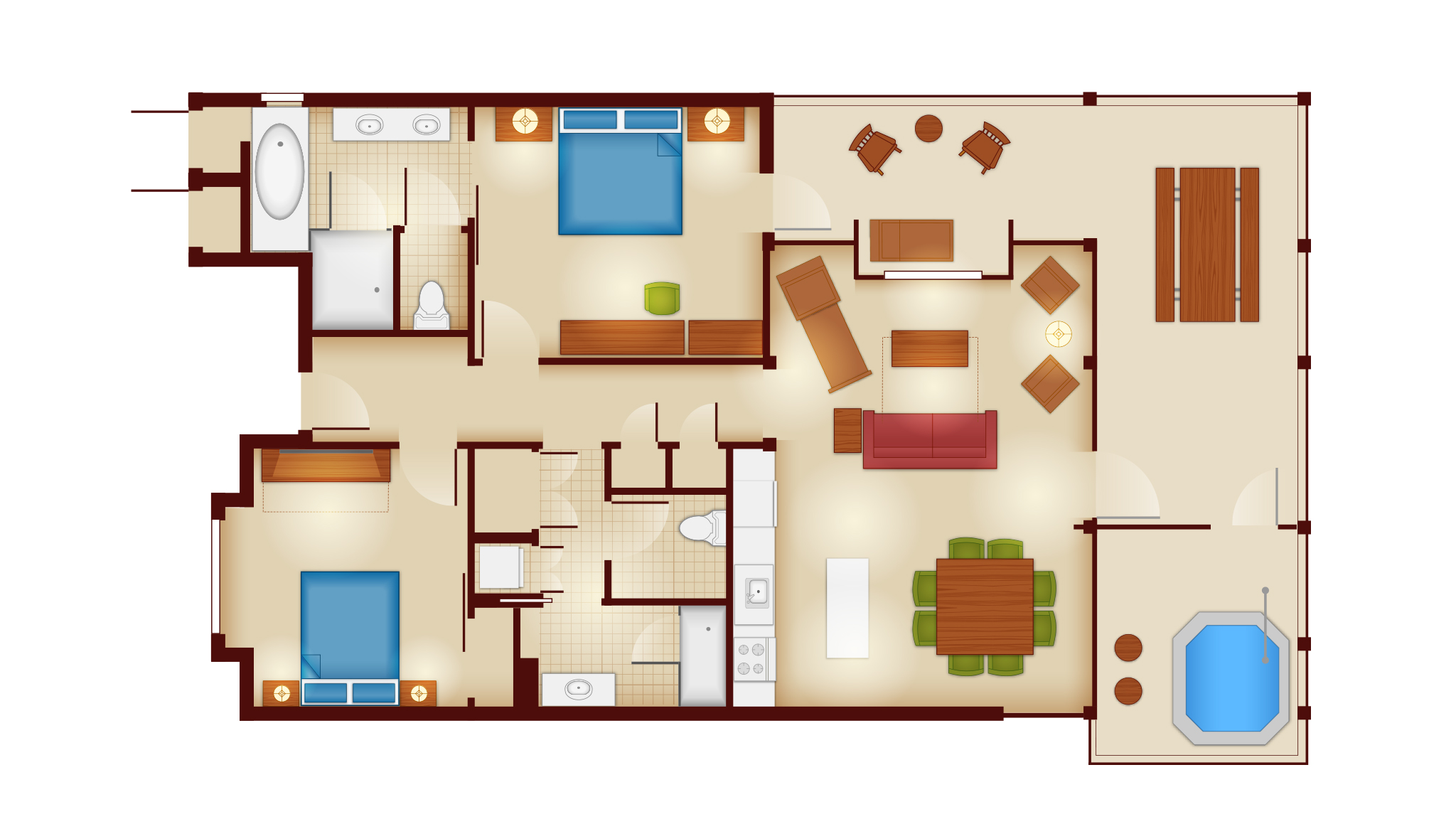 Photos Rooms And Floor Plans At Copper Creek Villas And Cabins At Disney S Wilderness Lodge