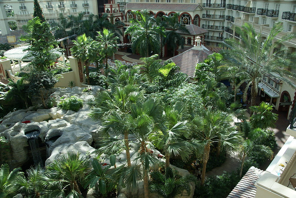 Views of the Atrium from a guest room balcony
