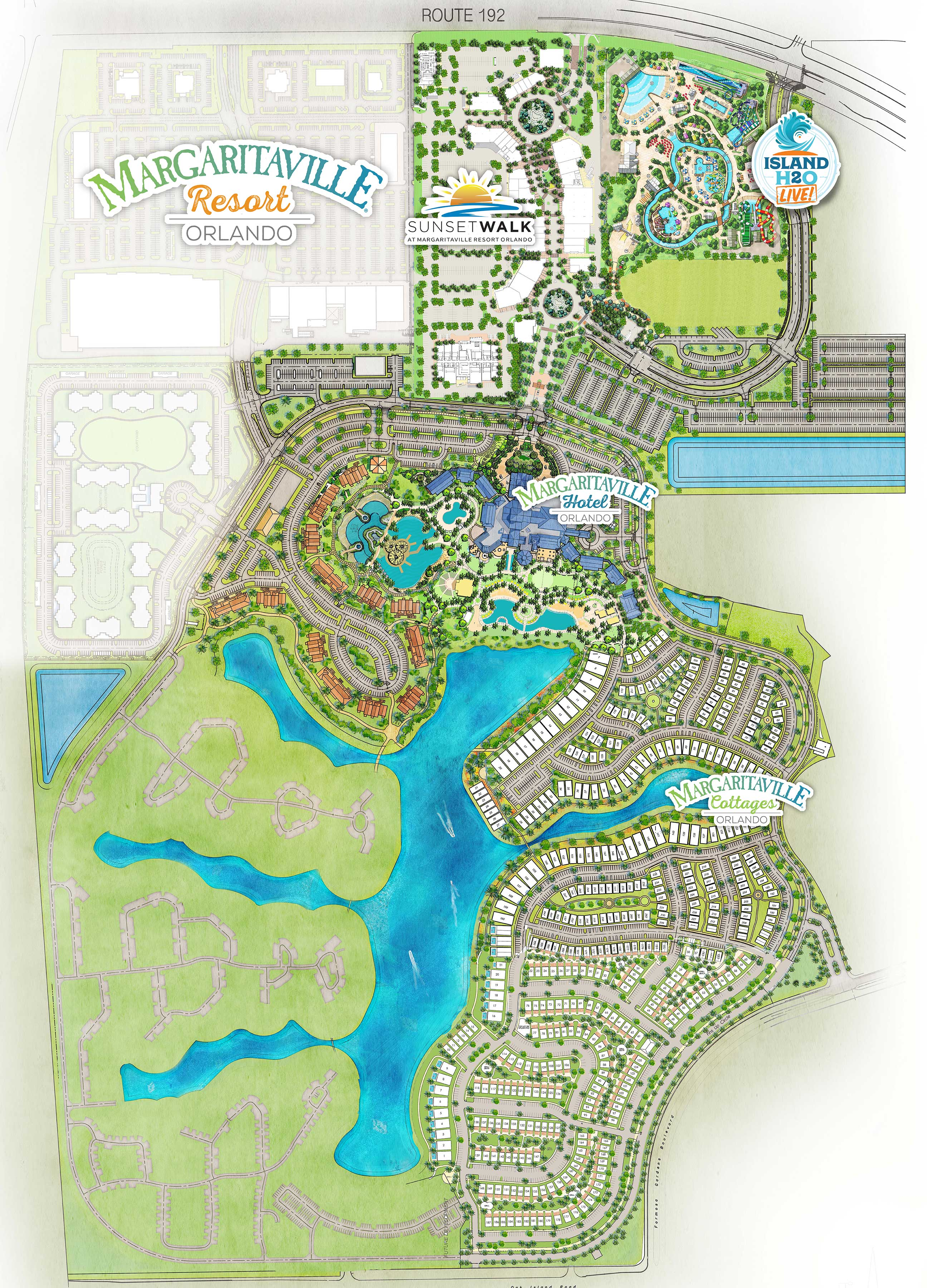 Margaritaville Resort Orlando site map