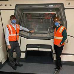 Jeff Vahle and Josh D'Amaro hard hat tour of Star Wars Galactic Starcruiser