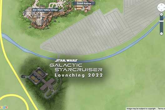 Star Wars Galactic Starcruiser now on Disney World digital guide maps