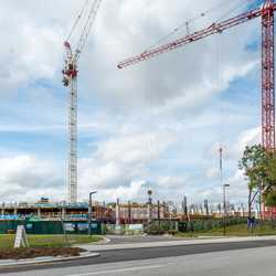 The Cove construction at the Walt Disney World Swan and Dolphin - February 2020