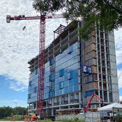 The Cove construction at the Walt Disney World Swan and Dolphin - August 11 2020
