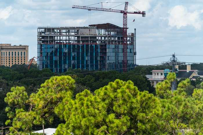 The Cove construction viewed from Skyliner - August 28 2020