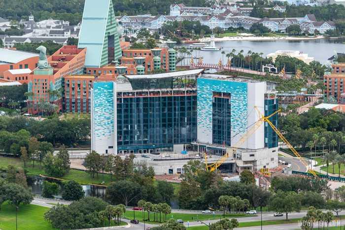 The Walt Disney World Swan Reserve construction aerial view - November 2 2020