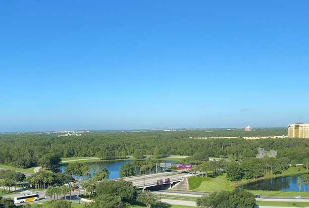 View from the top of the Walt Disney World Swan Reserve