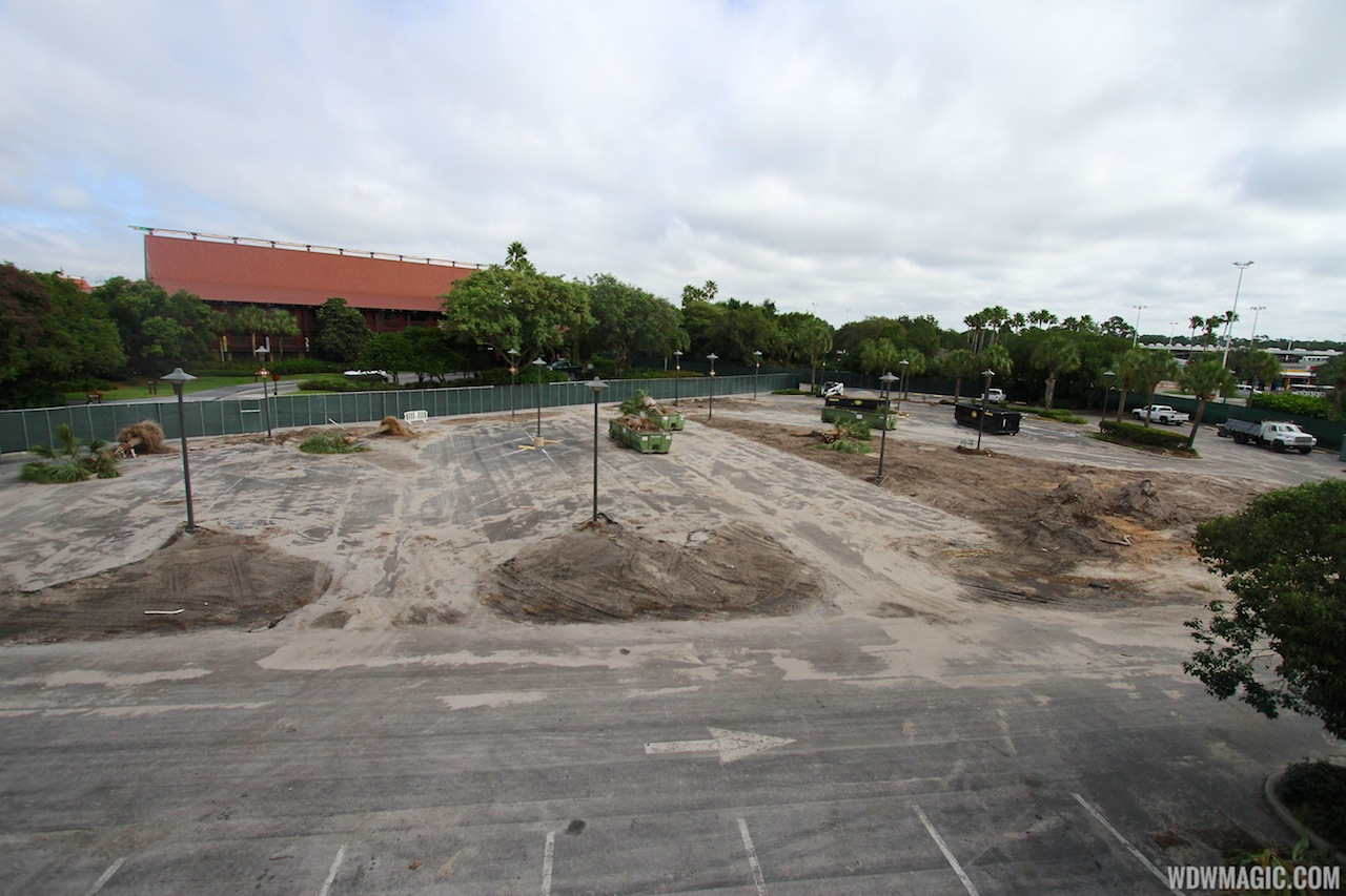Construction walls up around parts of Disney's Polynesian Resort