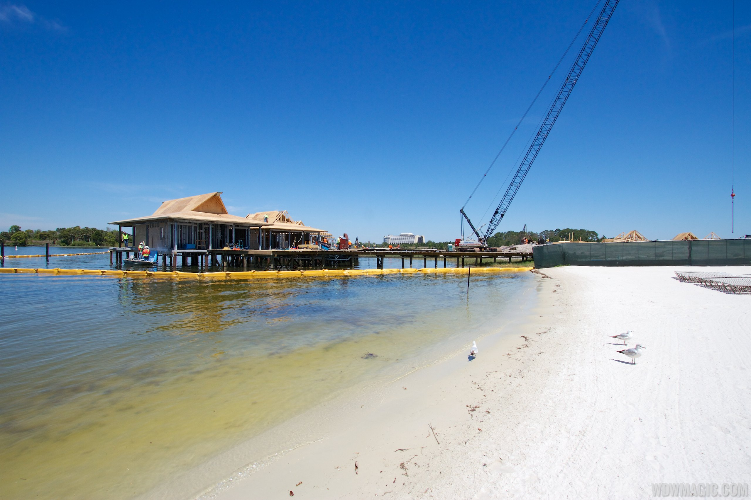 Polynesian Resort DVC Villas construction