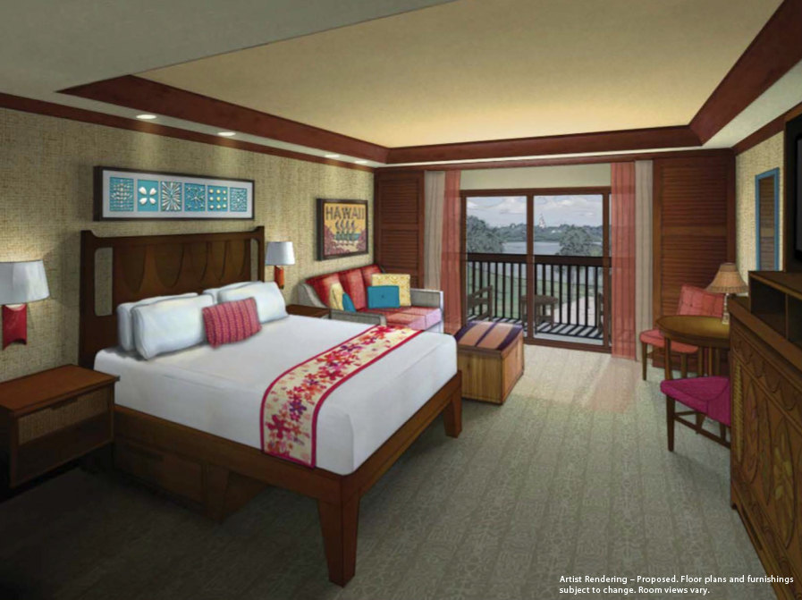 Concept art of Studio room at Disney's Polynesian Villas and Bungalows