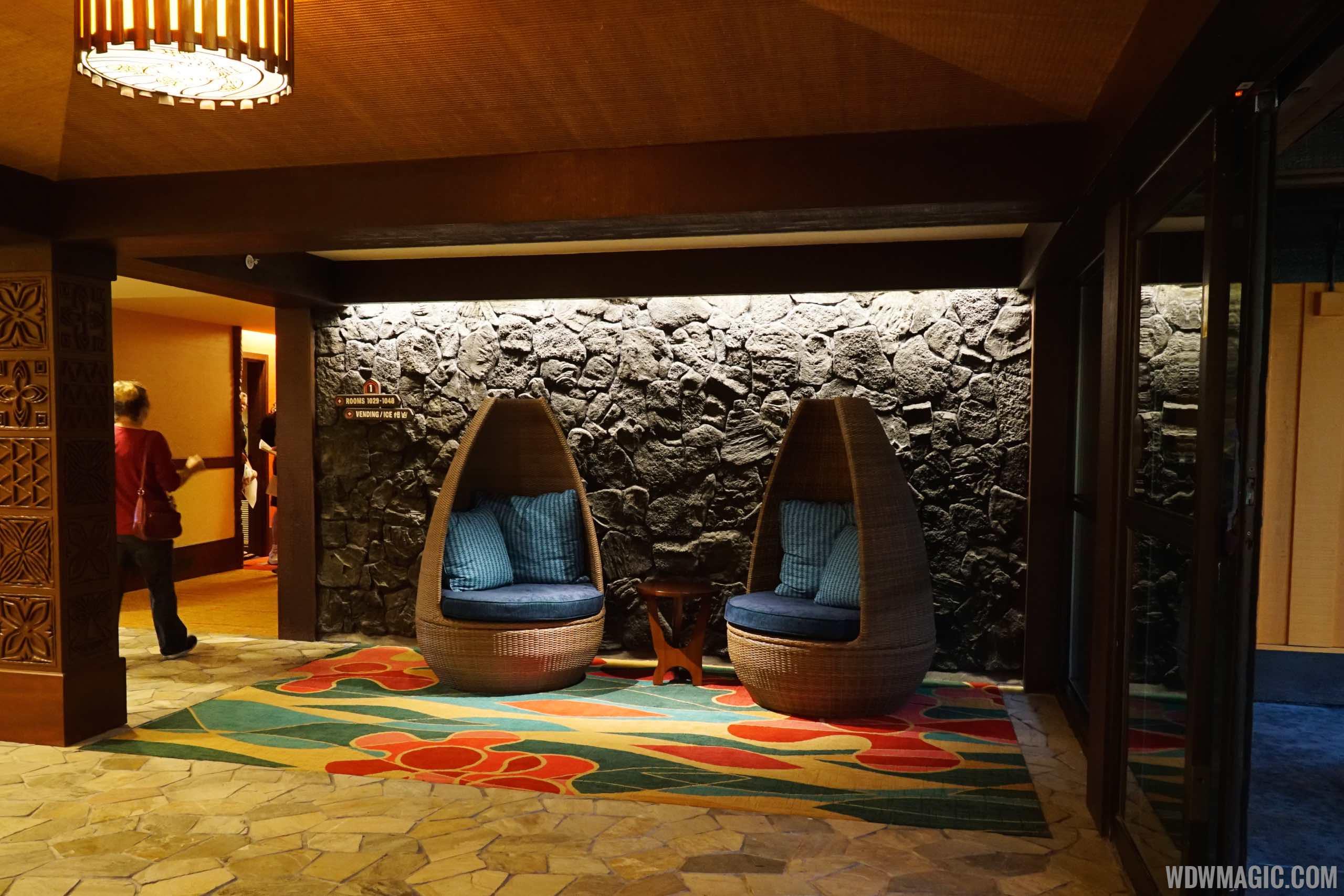 Disney's Polynesian Village Resort deluxe studio - Inside Pago Pago hallway